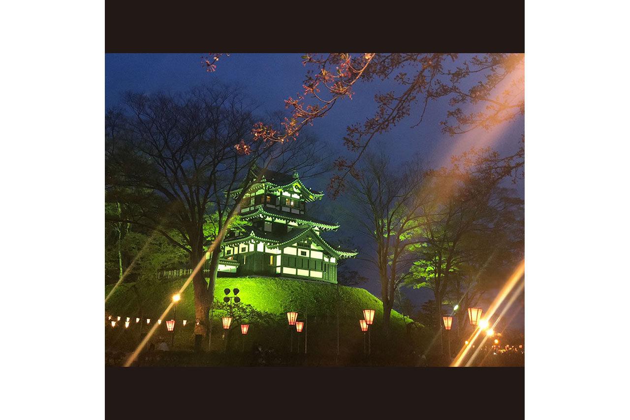 高田城のライトアップへ。毎年見ても感動しちゃいます。